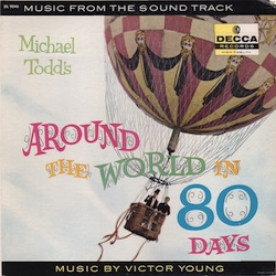 "Record cover of the soundtrack of ""Around the World in 80 Days"""