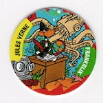 World flippo depicting Daffy Duck as Jules Verne