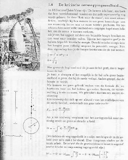 Page from a physics textbook introducing the concept of escape velocity