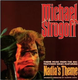 "Front of the English record cover of the soundtrack of ""Michael Strogoff"""
