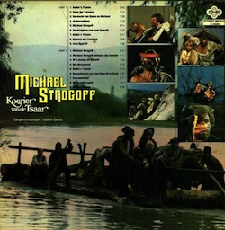 "Back of the Dutch record cover of the soundtrack of ""Michael Strogoff"""