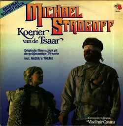 "Front of the Dutch record cover of the soundtrack of ""Michael Strogoff"""