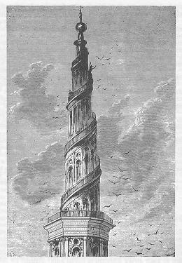 Original engraving of  the tower, as included in the novel